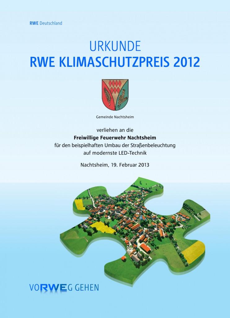 RWE Urkunde